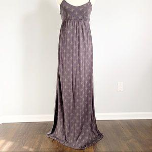O'NEILL Boho Dark Brown Maxi Dress Medium